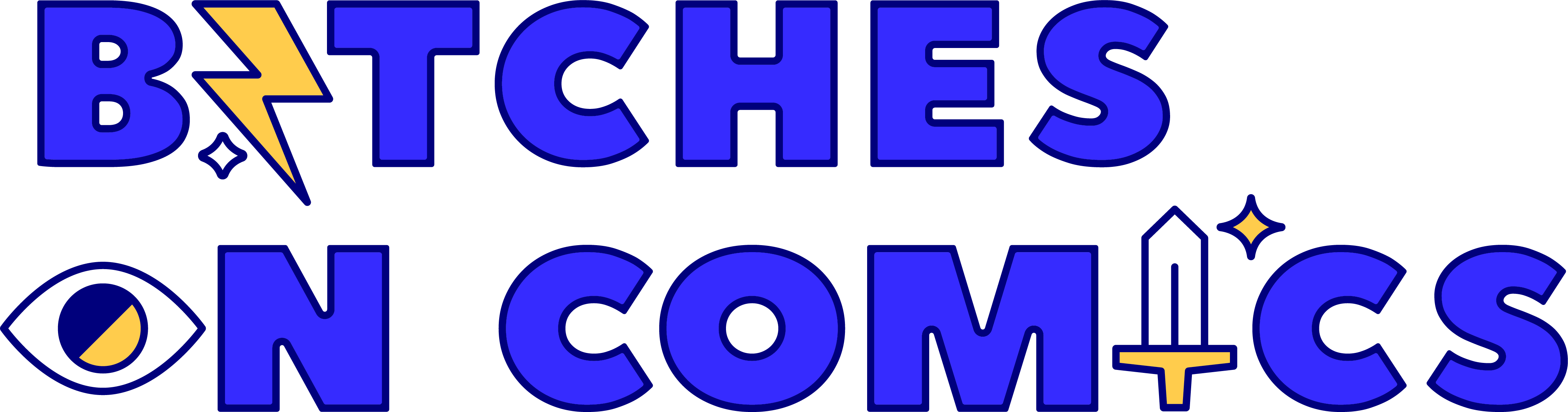 A header that says Bitches on Comics in a cool graphic font